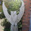 Cú sải cảnh macrame MO1 - macrame owl bird chuyên dùng trong trang trí cửa hàng, homestay, studio, nhà hàng Tphcm, Hà Nội, Đà Nẵng