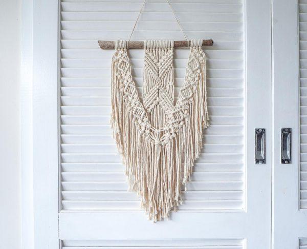 Rèm trang trí macrame RM03 xinh xắn cực đáng yêu macrame wall hanging