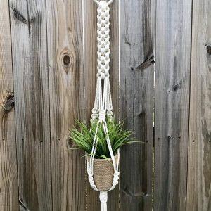 Giỏ chậu treo cây macrame GM01 với chiều dài 110cm hay còn gọi là macrame plant hanging Tphcm hà nội đà nẵng