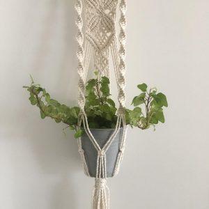 Giỏ chậu treo cây macrame GM05 dài 72cm - macrame plant hanging hà nội, hcm, đà nẵng, phú quốc
