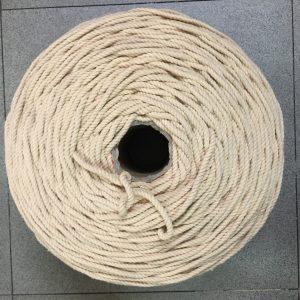 Dây macrame 5mm xoắn màu be 100% cotton Tphcm, Đà Nẵng