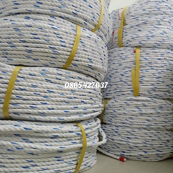 Dây thừng PP con beo 6mm 3.4kg/cuộn/200 mét với chất liệu PP chịu lực chắc chắn dùng cho các công trình, nông nghiệp, thuỷ sản.