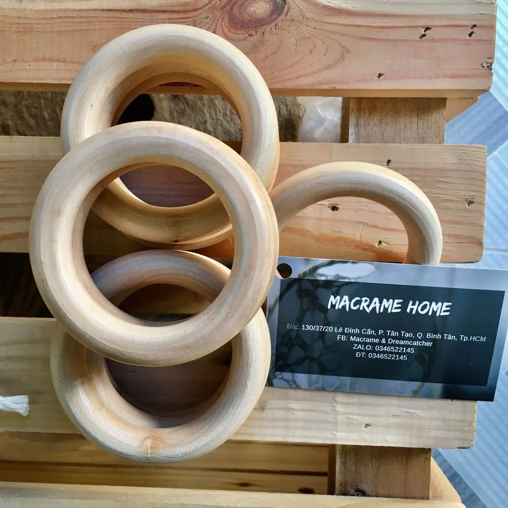 Vòng gỗ mộc tự nhiên 5cm