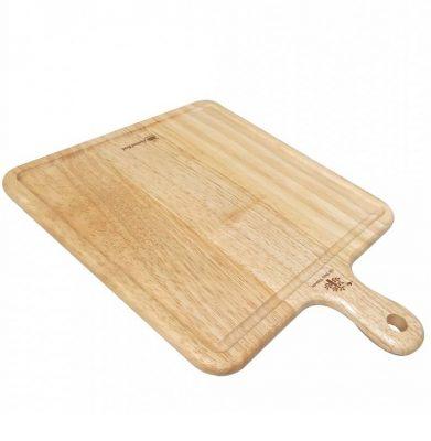 115 - Khay gỗ trang trí: khay gỗ vuông có tay cầm đựng bánh pizza 37x28.5 x1.5cm