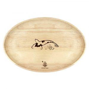 Khay gỗ Oval: đĩa gỗ hột xoài trang trí, decor chụp ảnh sản phẩm 30.5 x 20.5 x 2cm