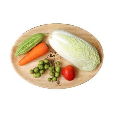 177 - Khay gỗ Oval: đĩa gỗ hạt xoài trang trí, decor chụp ảnh sản phẩm 27 x 18.5 x 2cm dùng trong đựng thực phẩm